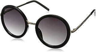 نظارات شمسية نسائية Tyra من Foster Grant بلون أسود/رمادي داكن، 53.8 مم US