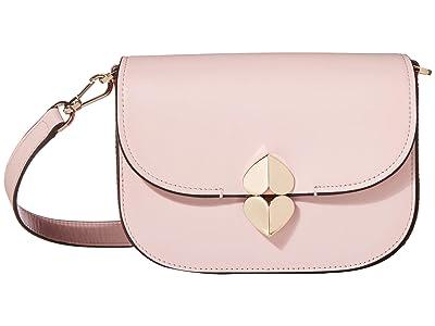 Kate Spade New York Lula Small Saddle Bag (Tutu Pink) Bags
