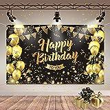 Geburtstags Dekorationen, Schwarz Gold Hintergrund
