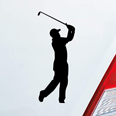 Golfspieler Aufkleber Golfer Golf Sport Autoaufkleber Schwarz Auto