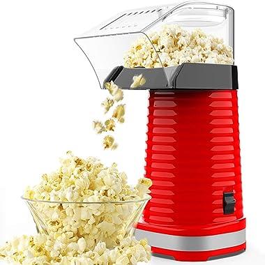 SLENPET Hot Air Popcorn Machine, 1200W Electric Popcorn Maker, ETL Certified, 98% Poping Rate, BPA-Free, 3 Minutes Fast Popco