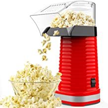 SLENPET Hot Air Popcorn Poppers with Measuring Cup and Top Lid, 1200W Electric Popcorn Maker, ETL Certified, BPA-Free, Low...