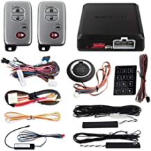 EASYGUARD EC002-T Smart Key PKE Car Alarm System Auto Start Starter Push Start Stop Button Touch Password Access Keyless Go System DC12V Rolling Code