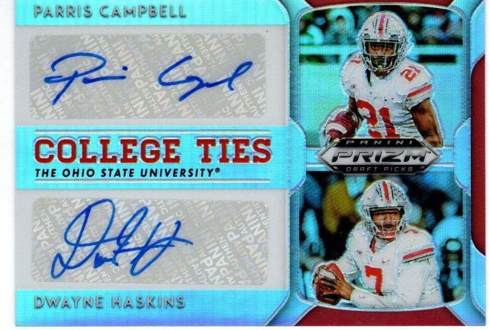 2019 Limited time Kansas City Mall for free shipping Panini Prizm Draft College Pa Haskins Autograph Ties Dwayne