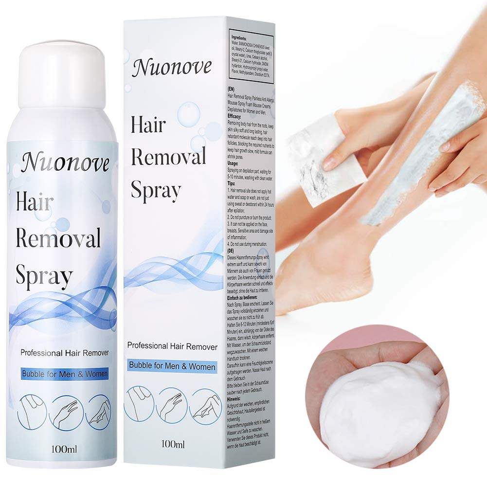 Hair Remover Spray Hair Removal Cream Mild Depilatory Cream Slows Inhibits Hair Growth For Face Body For