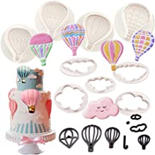 Hot Air Balloon Cookie Cutters -9Pcs Balloons and Cloud Cake Decoration Fondant Mold Set for Chocolate Candy Baking Pastry Cookie Sugar Craft