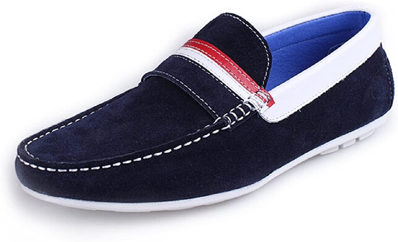 HAPPYSHOP TM New Suede Max 64% OFF Leather Men New popularity Casual Slip Loafer M on Penny