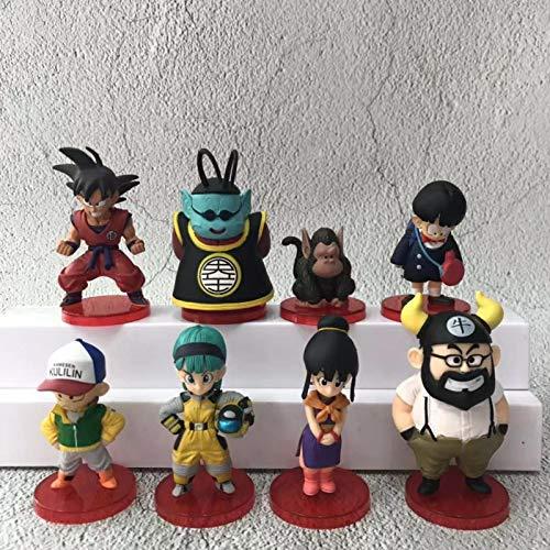 8 Unids / Set Wcf Dragon Ball Z Goku Modelo Figura De Vinilo Muñeca Juguetes para Niños 4-9Cm