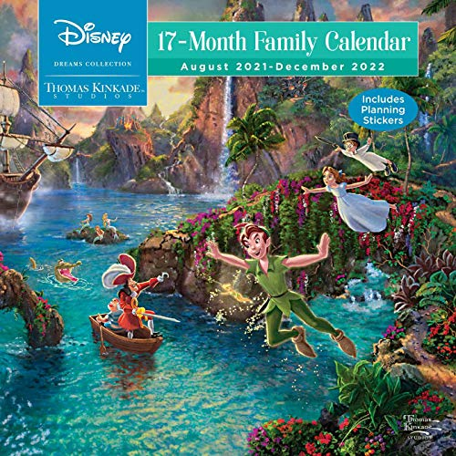 Disney Dreams Collection by Thomas Kinkade Studios: 17-Month 2021–2022 Family Wall Calendar