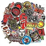 makstore 55 unidades de pegatinas para portátiles, coches, motos, bicicletas, graffiti, monopatines, música, pegatinas impermeables