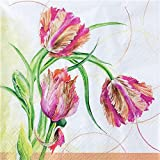 20 Servietten Papageien-Tulpe / Blumen / Frühling / Sommer 33x33cm