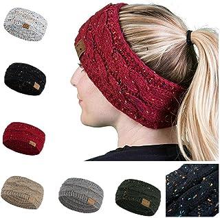 eubell Women Winter Warm Beanie Headband Skiing Knitted Cap Hat Ear Warmer