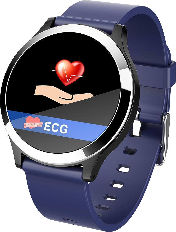 blueeetooth Smart Sports Watch, ECG Blood Pressure Heart Rate Smart Reminder Sleep Monitoring Pedometer