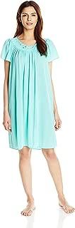 Miss Elaine Women's Plus Size Tricot Short Nightgown