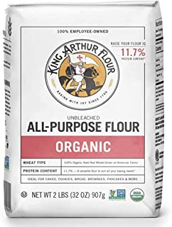 King Arthur Flour Organic Unbleached All Purpose Flour - 2 lbs - PACK OF 2