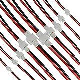 10ペアSYMA X5C X5A X5SWコネクタ延長ワイヤJST-XHバランスコネクタ2.0 mm 2ピンバッテリオス/メスコネクタシリコンワイヤ