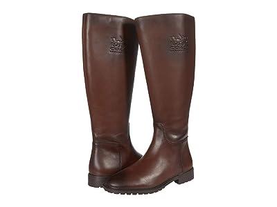 COACH Fynn Leather Boot II Wide (Walnut) Women