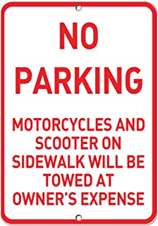 No Parking Motorcycles and Scooters Towed at Owner'S Expense Vinyl Sticker Decal 8