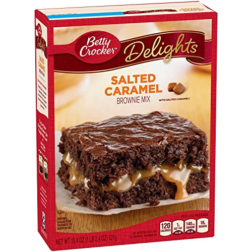 Betty Crocker Baking Delights Salted Caramel Brownie Mix 1839 oz Pack of Two Boxes