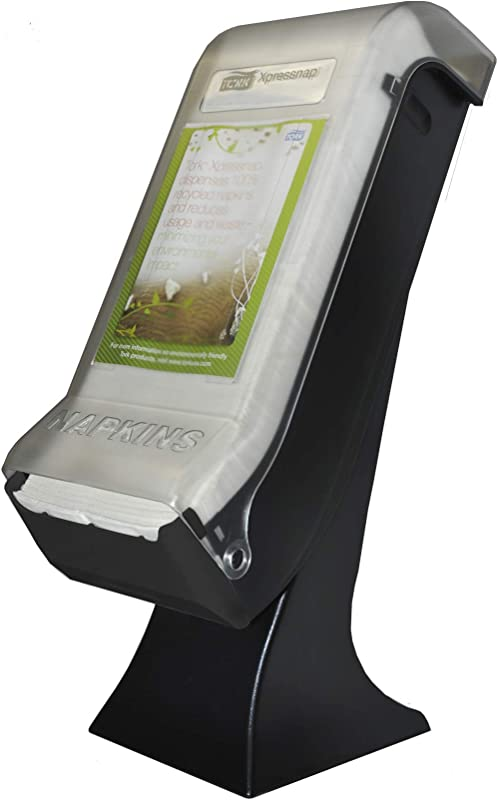 Tork 5555100 Xpressnap Stand Napkin Dispenser With Drive Thru Face Plate 22 5 Height X 8 Width X 12 5 Depth Black Case Of 1 Dispenser For Use With Tork 908EX DX906E DX900 DX990 Or 13680