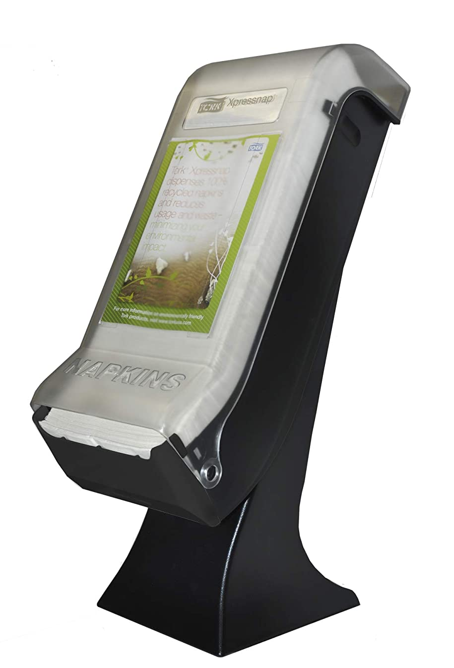 Tork 5555100 Xpressnap Stand Napkin Dispenser with Drive Thru Face Plate, 22.5