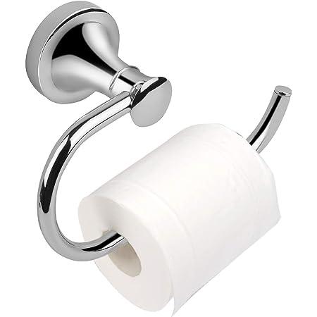 Bathroom Toilet Paper Holder Single Post Toilet Paper Roll Holder Wall Mount Chrome