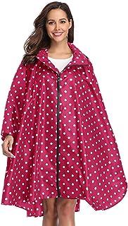 comprar comparacion Summer Mae Chubasqueros Mujer Impermeable Reutilizable Poncho Impermeables Chaquetas Capa Lluvia Nieve para Mujer