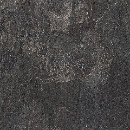Meister bm73340clic suelos laminados de suelo piedra, contorno gefast (4V de juntas), baldosas imitación pizarra de gris oscuro, 605x 282x 8mm