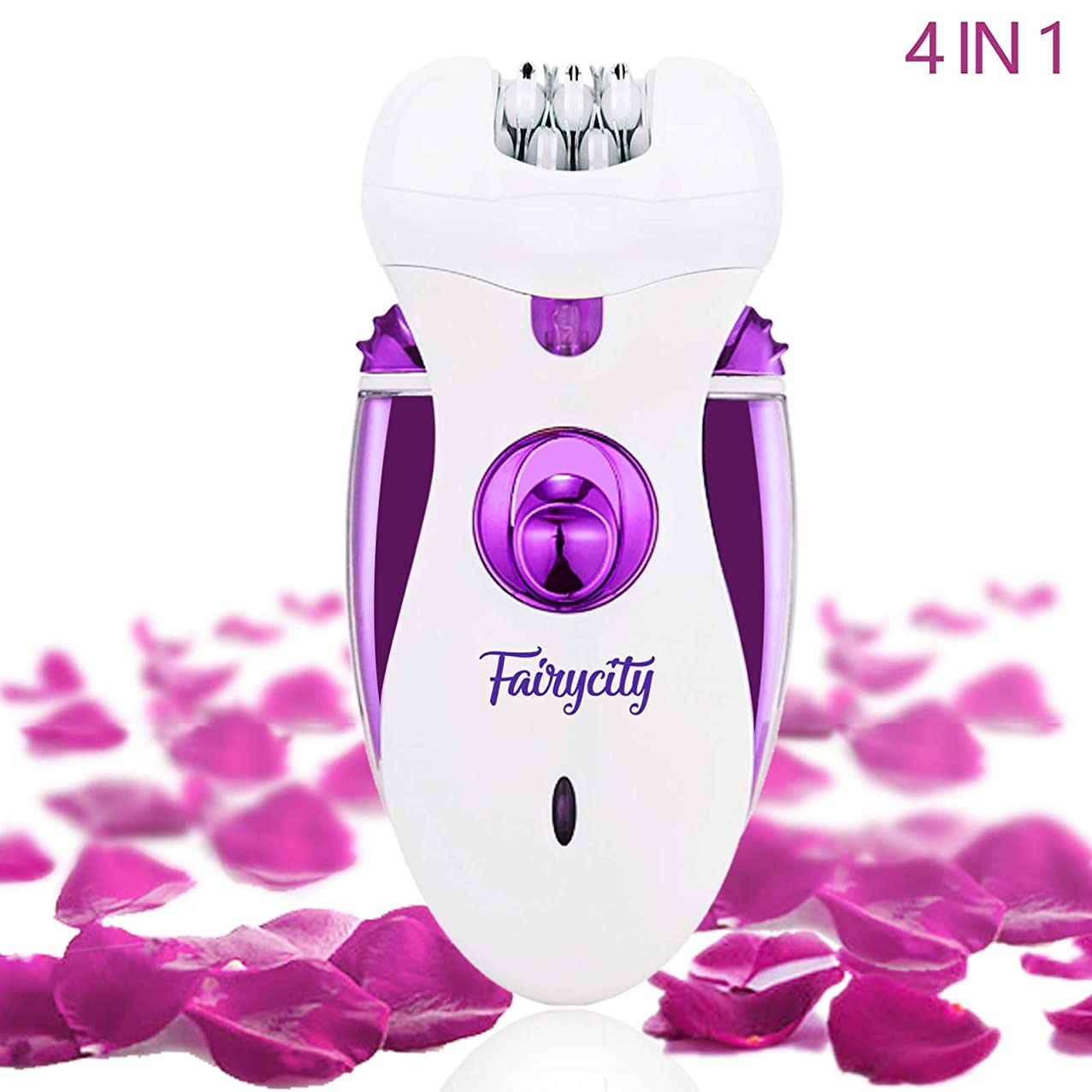 Epilator for Women Facial Hair Removal Face Shavers Feet Callus Remover Bikini Trimmer Electric Tweezer 4 in 1 Rechargeable Cordless Groomer for Body Legs Chin Underarms