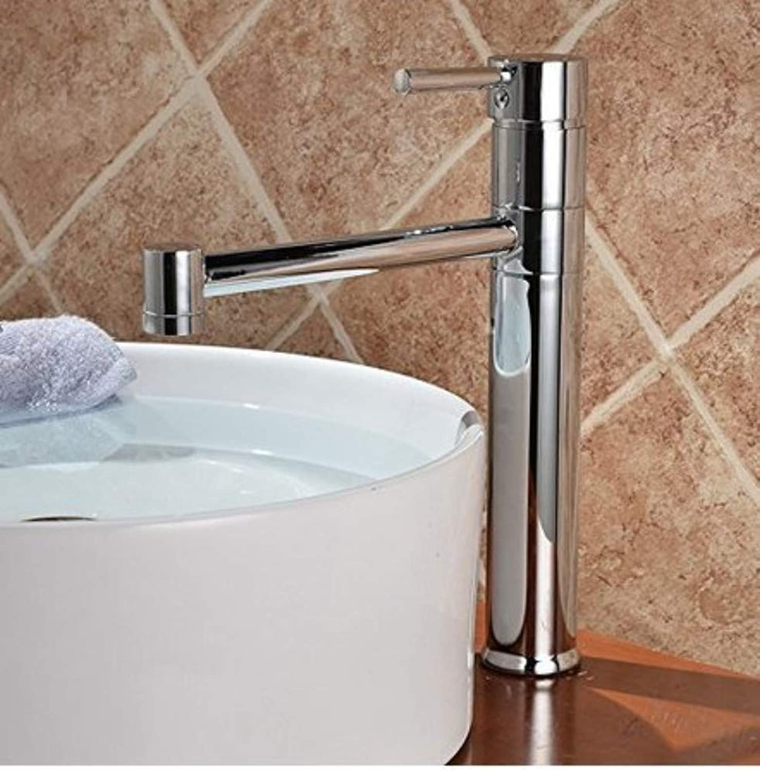 360° redating Faucet Retro Faucetbathroom Sink Taps Single Hole Hot and Cold Table Water Faucet