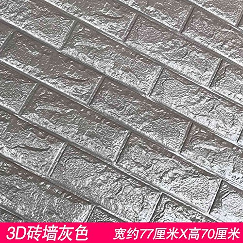 WU-Wall Sticker 3D schuim bakstenen zachte betegelde indoor gesimuleerde baksteen textuur muur behang zelfklevende behang tegel muur mount