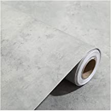 Wallpaper Gray Self-adhesive Wallpaper, Industrial Wind PVC Wallpaper, Easy to Install and Remove, Suitable for Restauran...