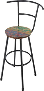 Reclaimed Boat Wood and Iron Bar Stool