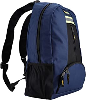 Tools Backpack Oxford Cloth Fabric Tools Backpack Wear-Resistant Bag for Electrician Plumber Repairman(Blue)