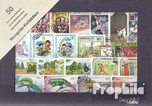 Prophila Collection Mongolei 50 Verschiedene Marken (Briefmarken für Sammler)