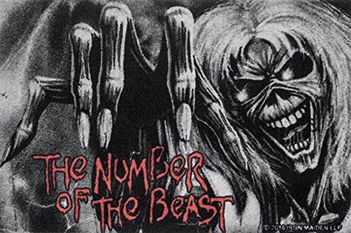 Close Up Zerbino Iron Maiden - The Number of The Beast