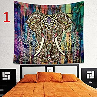 RONSHIN Indian Decor Mandala Tapestry Wall Hanging Hippie Throw Bohemian Dorm Bedspread Table Cloth Curtain 150 * 130cm Co...