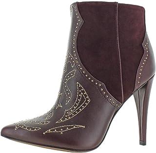 BCBG Max Azria Women's Jazleen Leather Dress Heel Ankle Booties Red Size