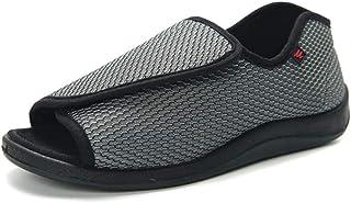 CWAIXXMM Chaussures Diabétiques pour Hommes, Chaussons Diabétiques À Bout Ouvert Chaussures d'allaitement Unisexes en Mous...