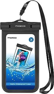 MoKo Vattentät telefonpåse, undervattens-mobiltelefonväska torr väska med snodd-armband kompatibel med iPhone 12 Mini/12 P...