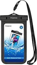 MoKo Waterproof Phone Pouch Holder, Underwater Cellphone Case Dry Bag with Lanyard Armband Compatible with iPhone 13/13 Pro Max/iPhone 12/12 Pro Max/11 Pro Max, Xr/Xs Max, 8, Samsung S21/S20/S10/S9