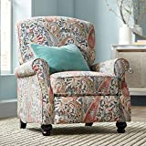 Ethel Coral Paisley Push Back Recliner Chair - Elm Lane