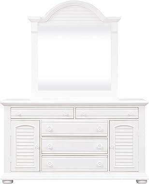 Liberty Furniture Industries Summer House I Dresser & Mirror, White