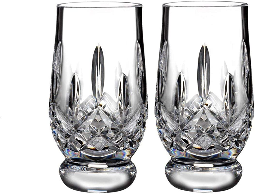 Waterford Crystal Lismore Footed Whiskey Tasting Tumbler Glass Glassware Set Of 2 5 5 Fl Oz