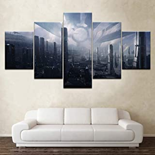 mass effect 5 piece canvas