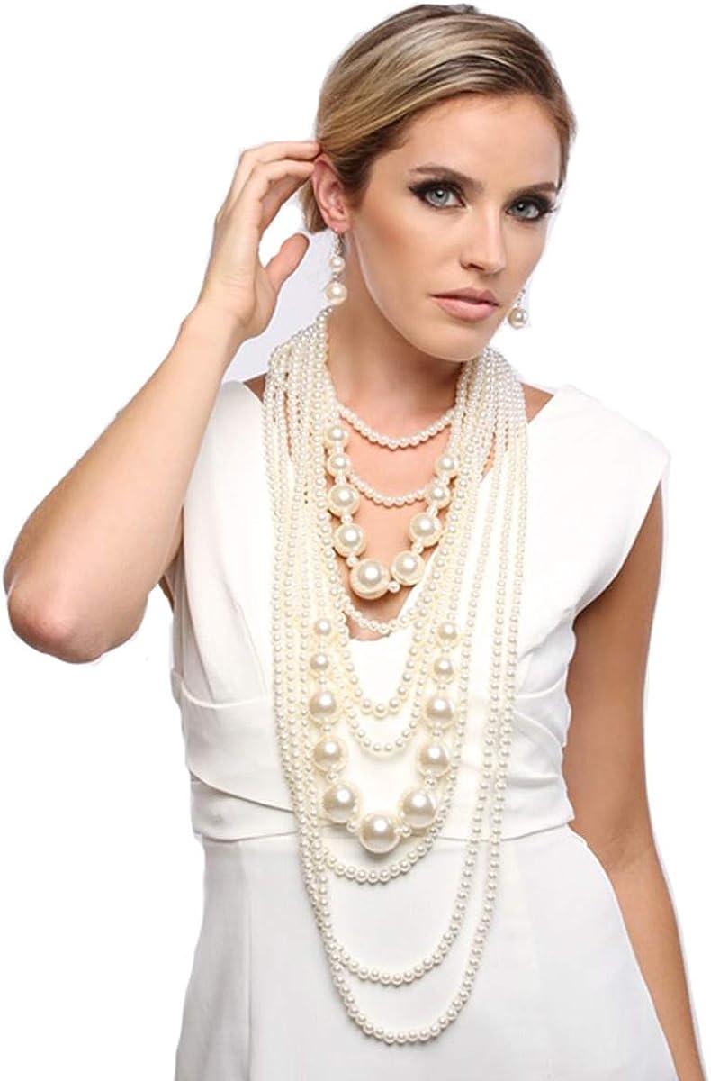 Sahara Sand Chunky Bead Necklace Multi Strand Multi Cord Necklace Gift for Her Modern Necklace Trendy Jewelry Long Necklace