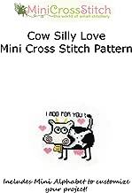 Cow Silly Love Mini Cross Stitch Pattern