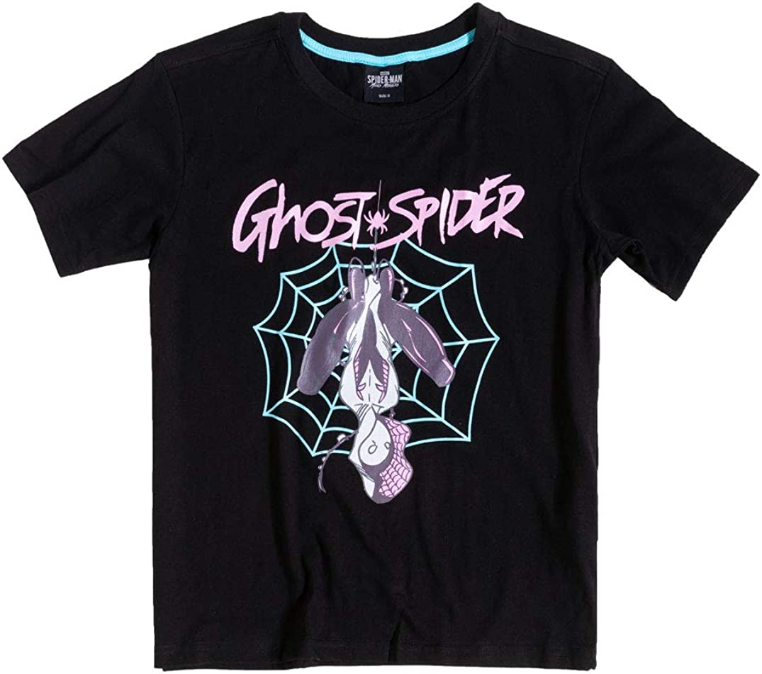 Online limited product Difuzed Womens Black Spider Memphis Mall T Ghost Gwen Shirt