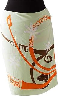 (ラナイブルー) 高品質な手染めのパレオ ショート ハーフ タヒチアン フラ ティアレ 5色