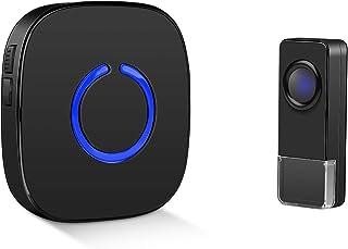 Coolqiya Doorbell Kit Wireless, with 1 Waterproof Transmitter and 1 Plug in Receiver, 58 Ringtones
